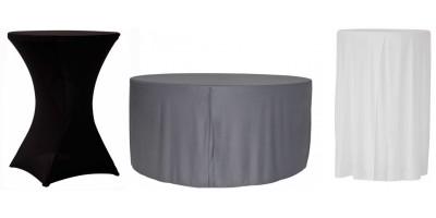 Nappes pour tables polyéthylène rondes